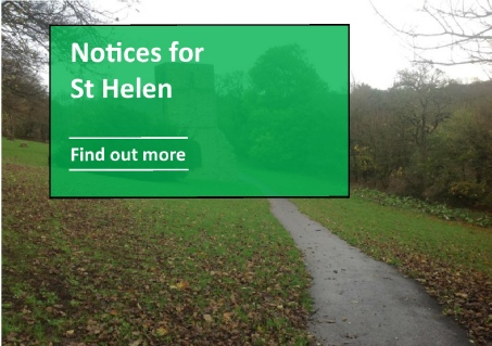 Notices for St Helen